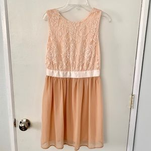 Dusty blush dress